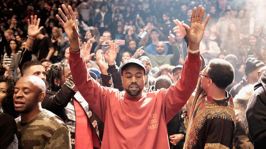 Kanye West als rappende voorganger