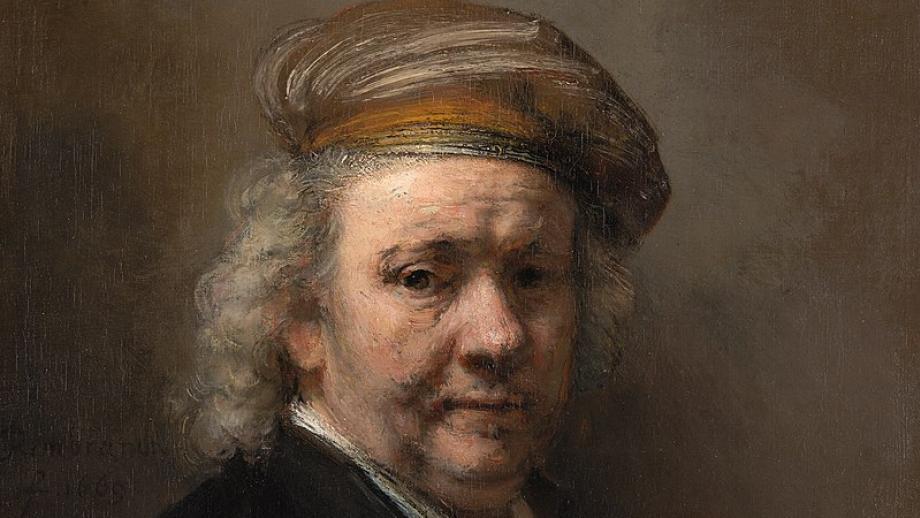 Rembrandt van Rijn, Zelfportret, 1669, ingezoomd