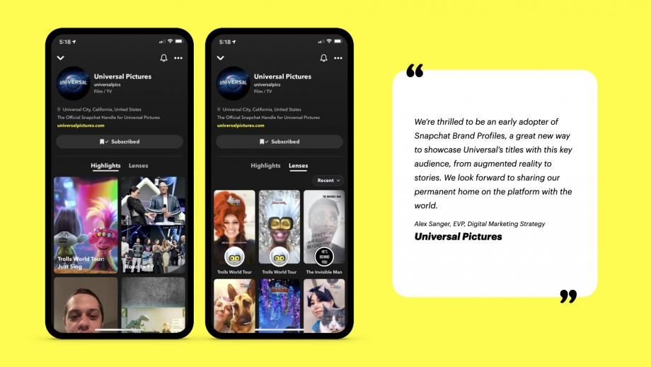 Snapchat test bedrijfsprofielen op het platform