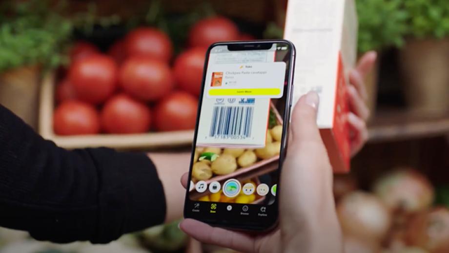 Snapchat's NutritionScan geeft informatie over de kwaliteit van voorverpakte artikelen door de streepjescode te scannen