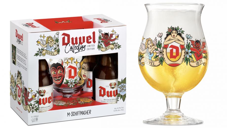 Limited edition Duvel artglas