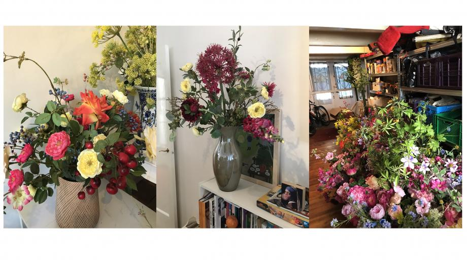 Overal bloemen in huis