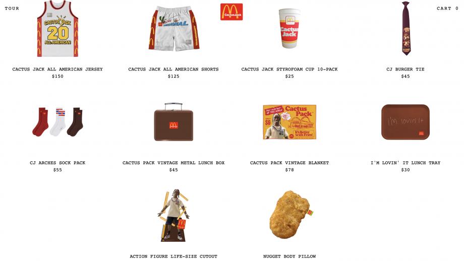 McDonald's x Travis Scott - kledinglijn