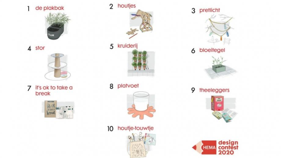 de 10 ontwerpen