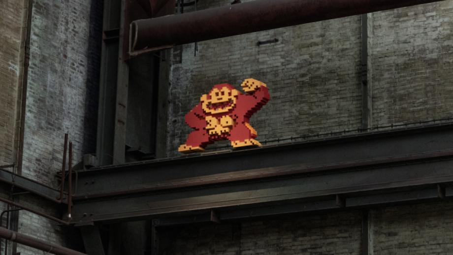 Donkey Kong in museum Straat