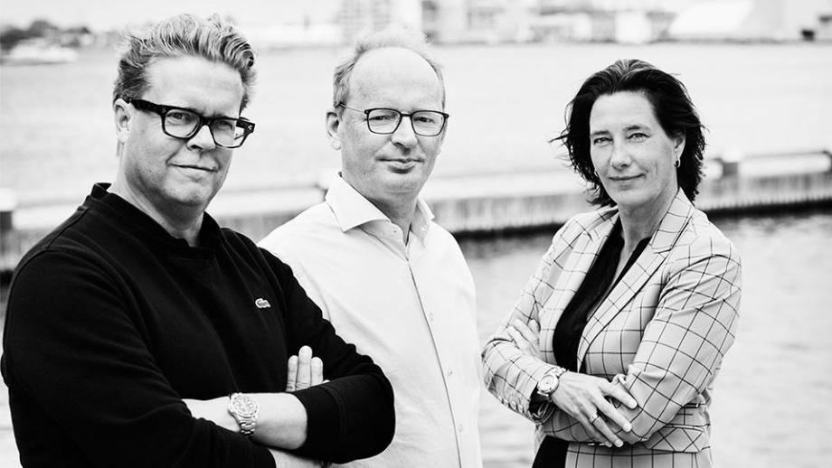 V.l.n.r. Maurice Wenneker, Michel Sohier, Maartje van Wijk