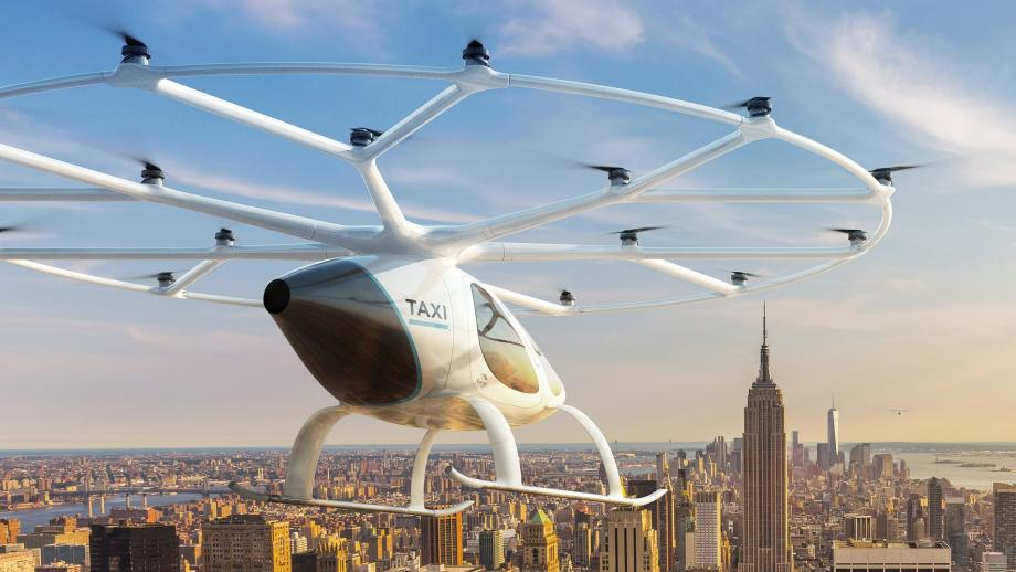 Een air taxi, of volocopter