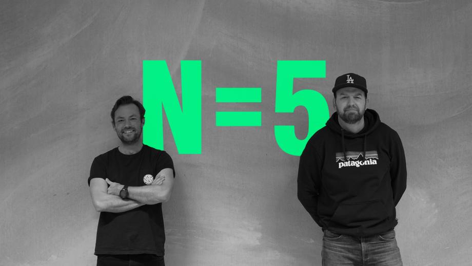 Bastiaan Weers, Head of Strategy N=5 (l.), en Thijs Bontje (r.)