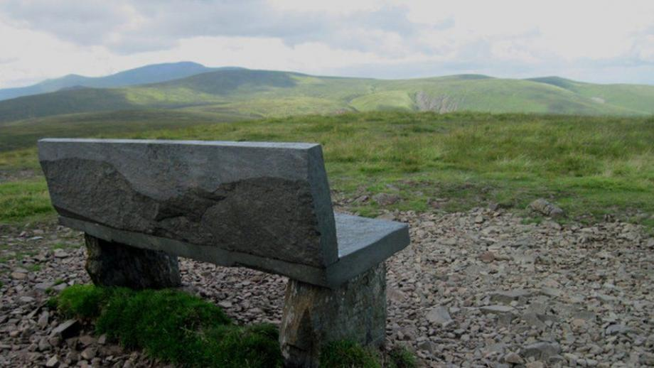 A bench dedicated to Mick Lewis (16) on High Pike