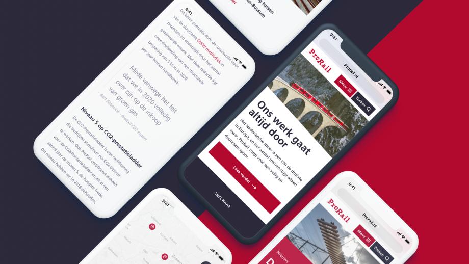 Mobiele toegankelijkheid website Prorail