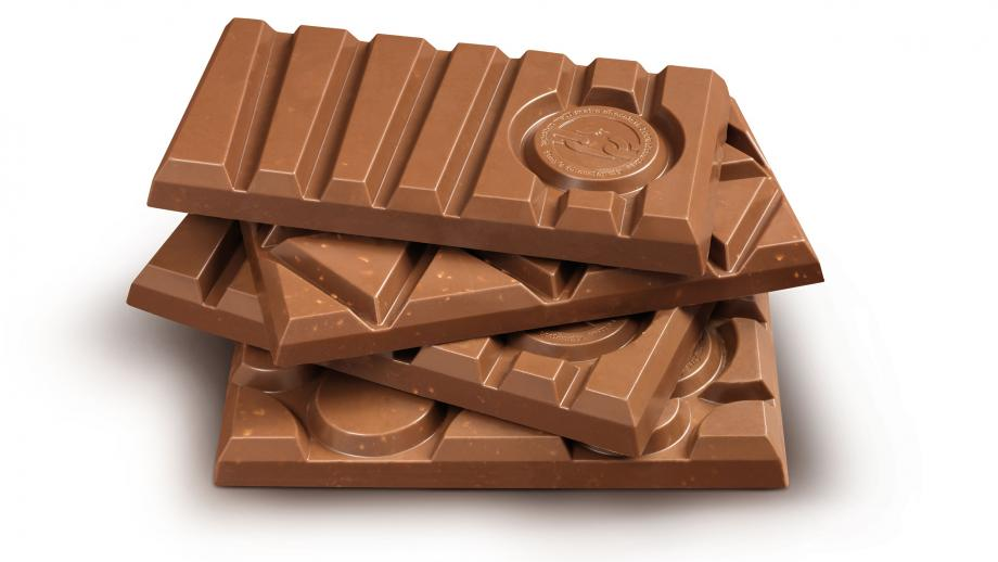 Vormkenmerken van o.a. Kitkat en Toblerone