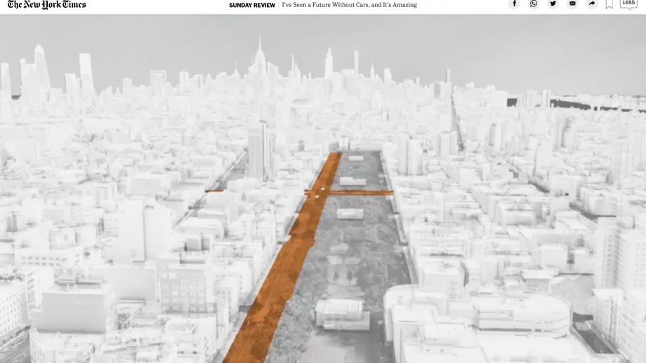 Uit New York Times-artikel I've Seen a Future Without Cars