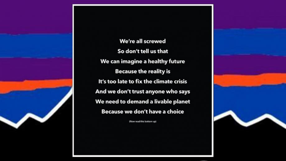 Patagonia's reverse poem