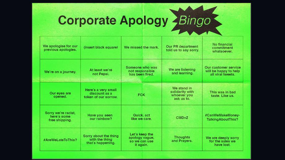 Corporate excuses