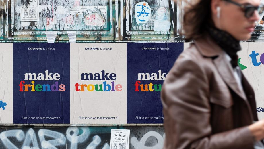 Greenpeace: 'Make friends, make trouble, make future'