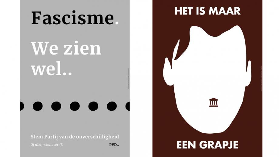 Grafisch ontwerpers bewijzen dat verkiezingscampagne-posters niet zo zielloos hoeven te zijn. 'Een straatposter mag ook schuren'