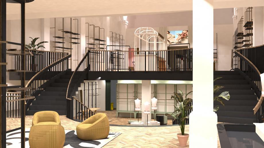 Ontwerp flagship-store Den Bosch
