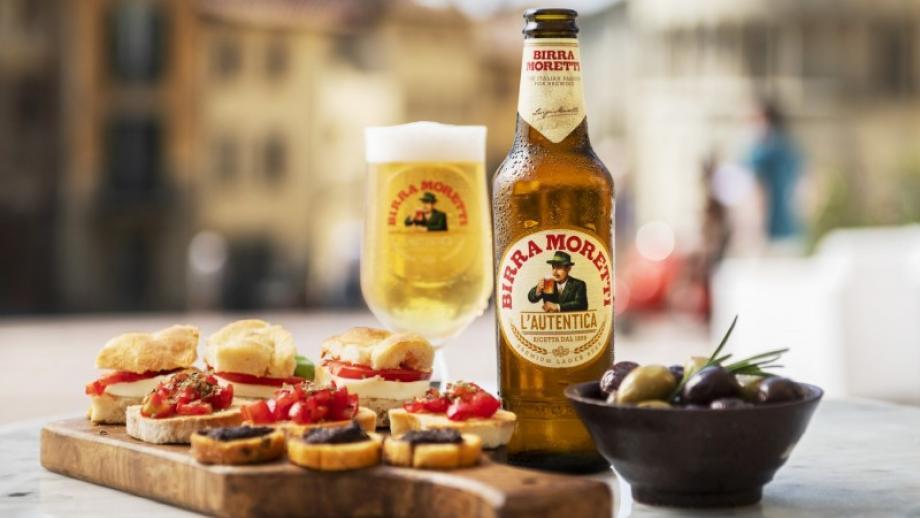 De brouwer wil Birra Moretti veelal aanbieden in combinatie met bijpassende gerechten, zowel in horeca straks als in de supermarkt.