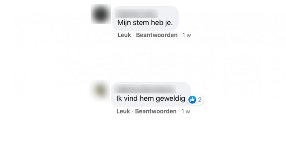 Facebook reacties geven de partij voor de burgers al een aantal stemmen