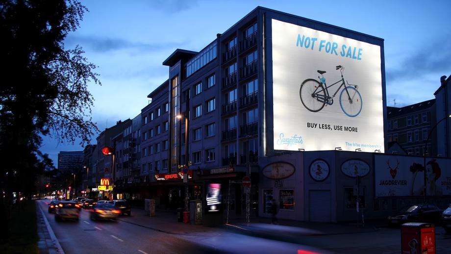 De campagne voor Swapfiets in Hamburg