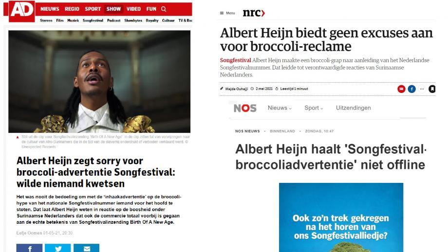 de stukken van AD, NRC en NOS