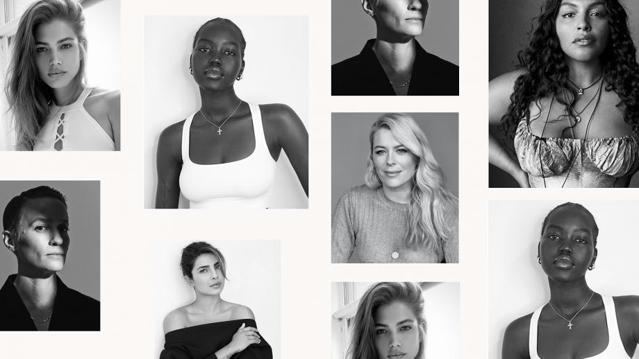 De nieuwe ambassadeurs van Victoria's Secret met Valentina Sampaio, Adut Akech, Amanda de Cadenet, Paloma Elsesser, Megan Rapinoe en Priyanka Chopra Jonas