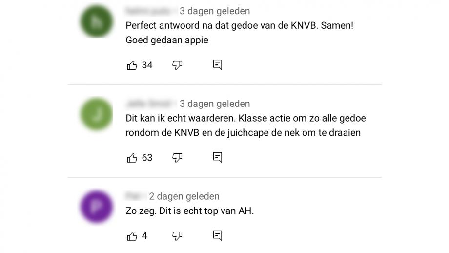 positieve reacties op Albert Heijn