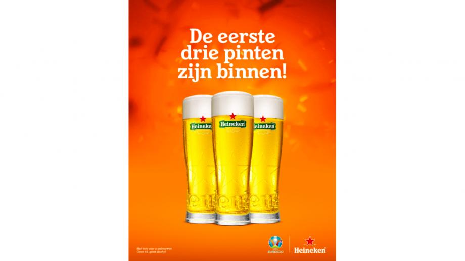 De eerste drie pinten zijn binnen! - Heineken
