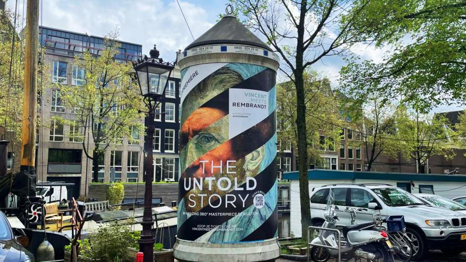 Buitenreclame expositie: Vincent meets Rembrandt 'The Untold Story'