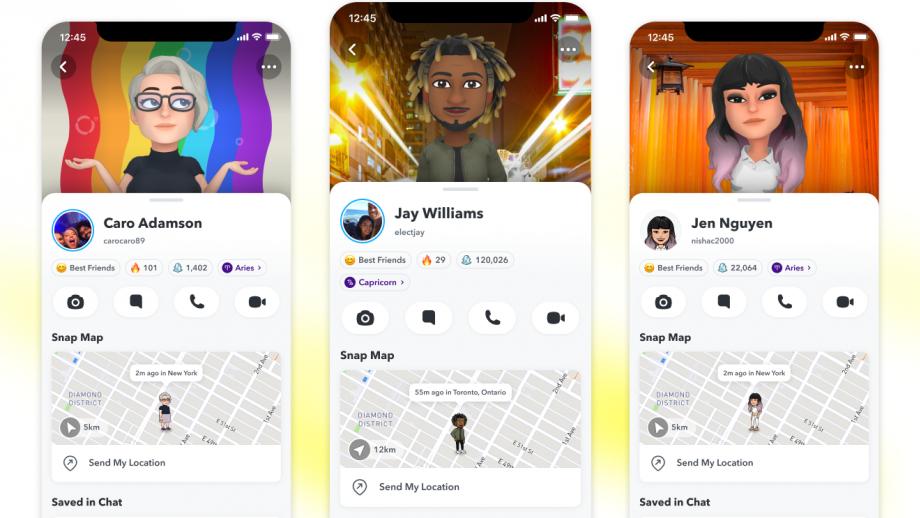 Snapchat-profielen krijgen een nieuwe look, met 3D Bitmoji