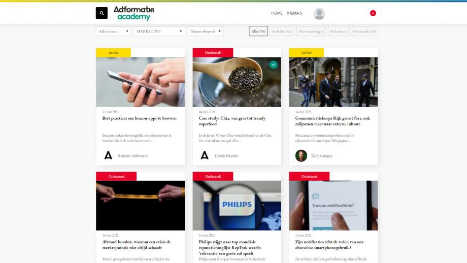 Adformatie Academy - marketing topics