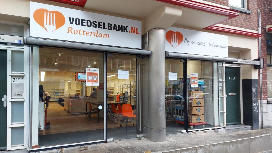 De Voedselbank-supermarkt in Rotterdam