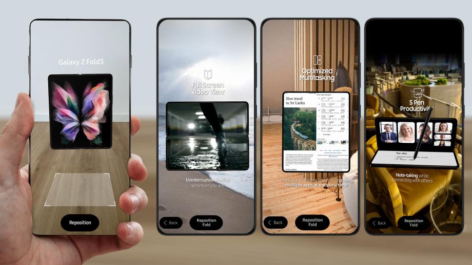 Samsung Galaxy Z Fold3 5G AR experience