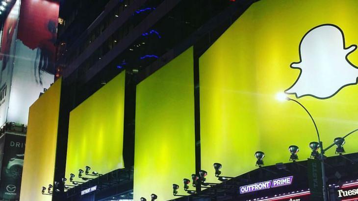 iMega billboard Snapchat in New York