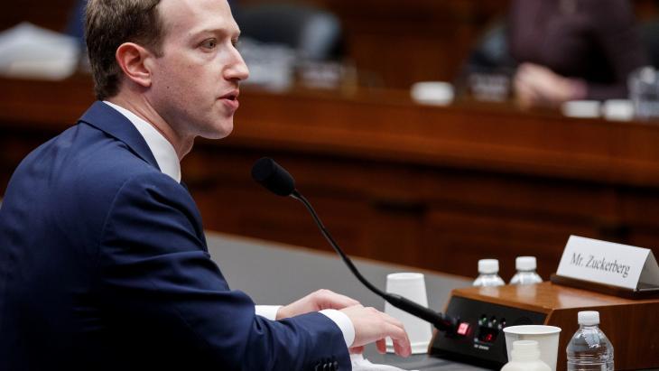 Mark Zuckerberg voor de commissie van het Huis van Afgevaardigden