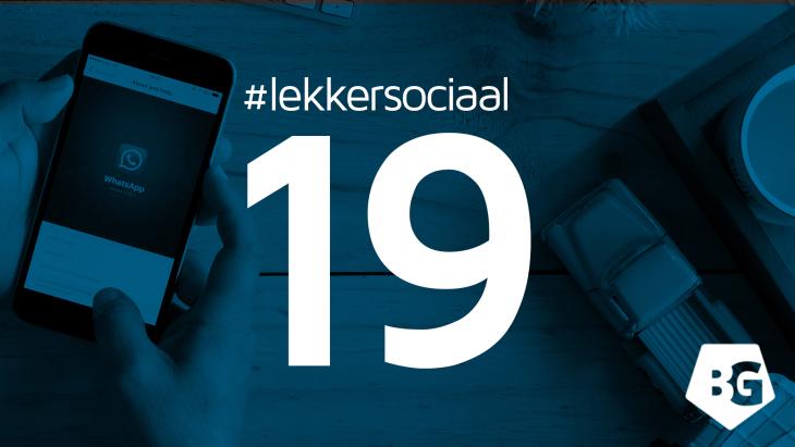 #lekkersociaal19