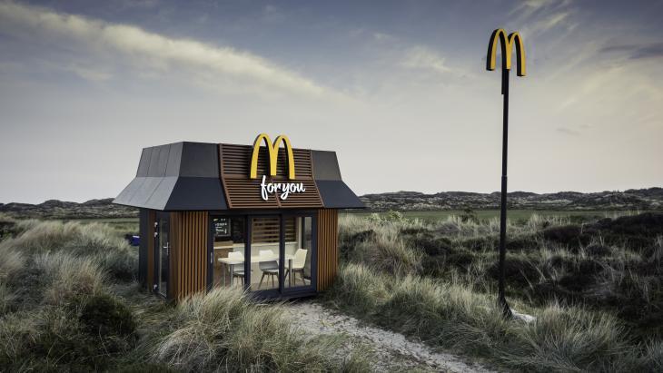 Het mini McDonald's restaurant op Terschelling