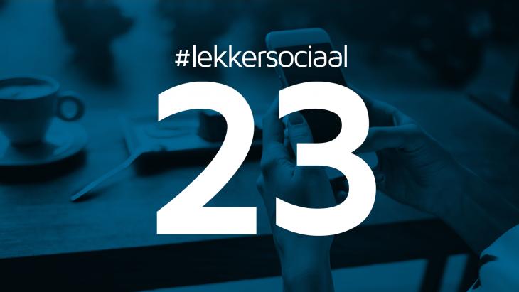 #lekkersociaal23