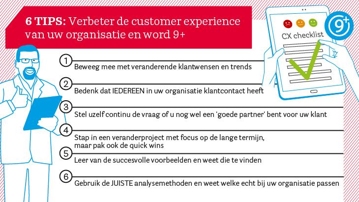6 tips voor succesvolle Customer Experience