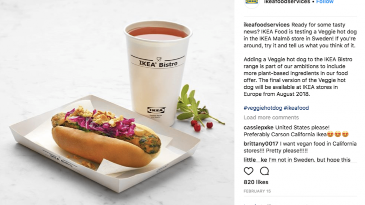 Veggie, Ikea, hotdog