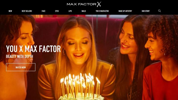 Homepage Max Factor