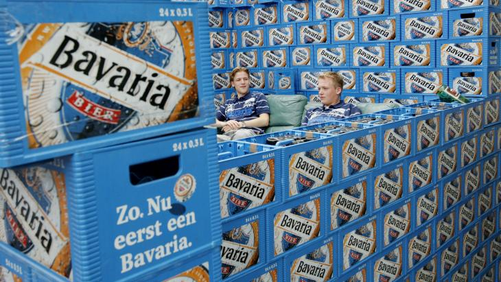 """""""Zo, nu eerst een Bavaria' terug"""