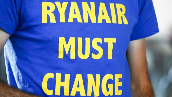 Protest tegen Ryanair
