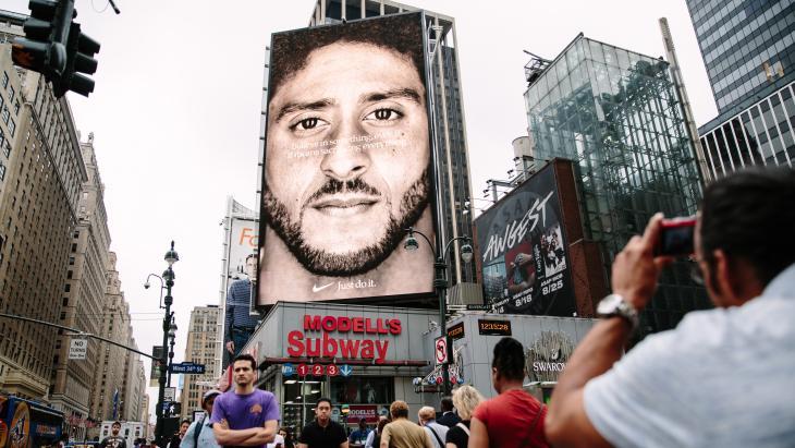 Nike reclame met Colin Kaepernick