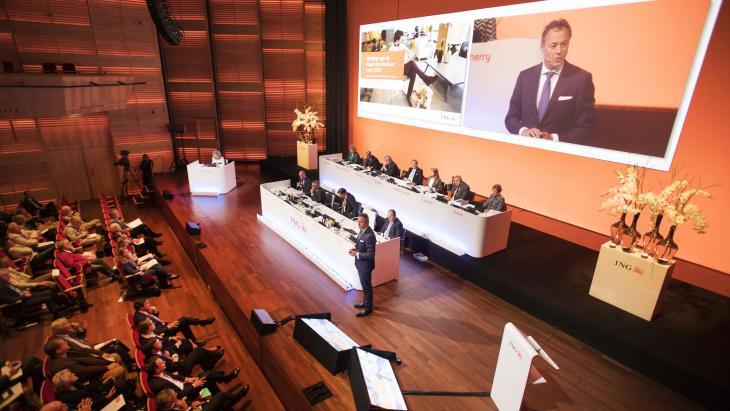 Ralph Hamers opent de ING-aandeelhoudersvergadering