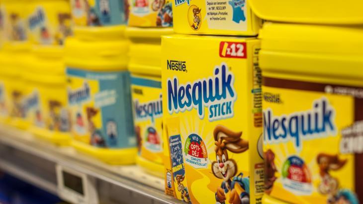 Nesquik, een van de bekende producten van Nestlé