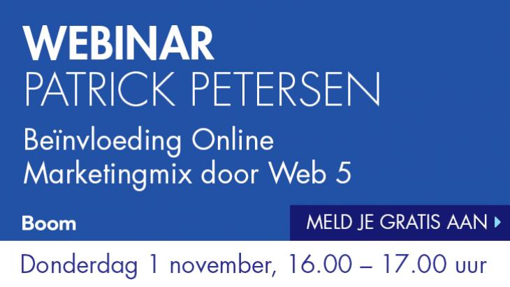 Webinar 'De be-invloeding van de Online Marketingmix door Web 5
