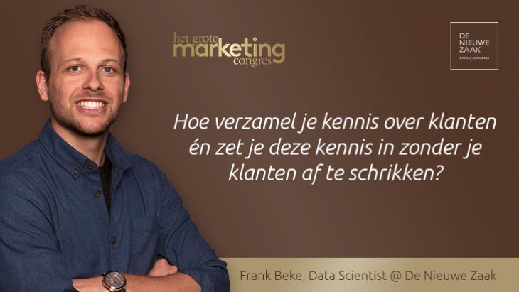 Expert Frank Beke over data, personalisatie en vertrouwen