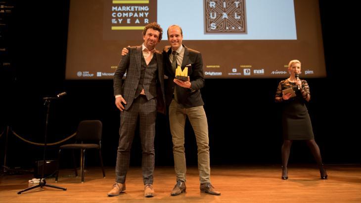Marc van Eck en winnaar Rituals