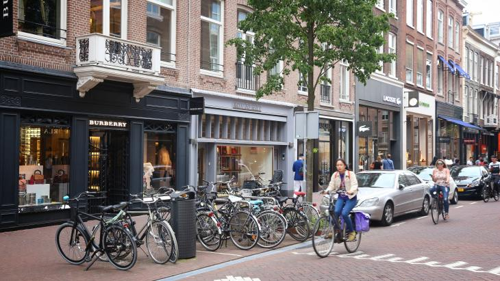 Winkels in de PC Hooftstraat in Amsterdam